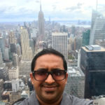 Vipin with NYC Skyline